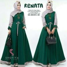 Baju Original Renata Dress Balotelly Gamis Panjang Hijab Casual Pakaian Wanita Terbaru Tahun 2018