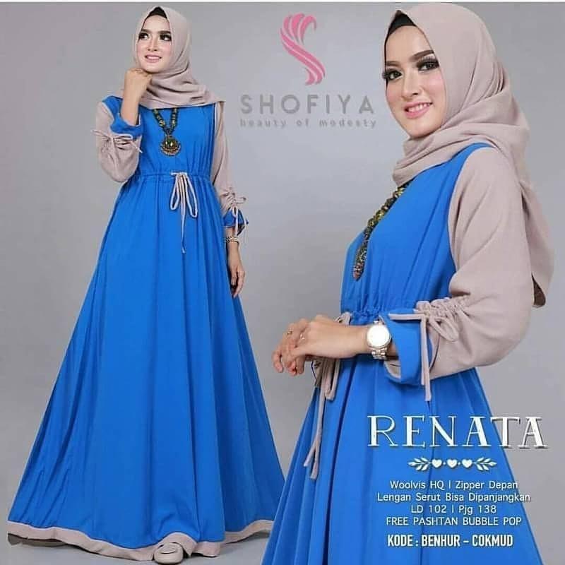 Baju Original Renata Dress Balotely Gamis Panjang Hijab Casual Pakaian  Wanita Muslim Modern Maxy Terbaru Tahun 1aaa0a773e