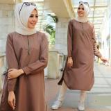 Baju Original Resti Tunikbalotelly Baju Atasan Wanita Muslim Panjang Pakaian Kerja Santai Casual Warnachoco Jawa Barat Diskon 50