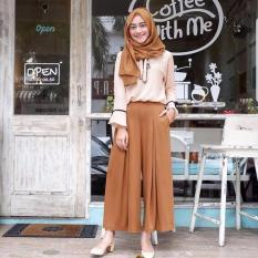 Baju Original Setelan Adila Set 2 In 1 Baju Wanita Hijab Trendy Celana + Baju Atasan Modern Modis Casual Trendy Terbaru 2018