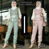 Beli Baju Original Setelan Morena Set Balotelly Stelan Muslimah Atasan Dan Celana Wanita Pakaian Casual Simple Warnadusty Murah Jawa Barat