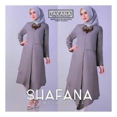 Baju Original Shafana Tunik Balloteli Gamis Panjang Hijab Casual Pakaian Wanita Hijab Modern