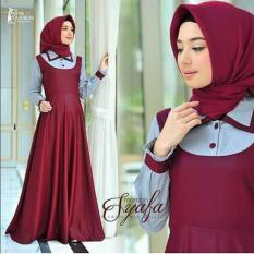 Baju Original Syafa Dress Balotely Gamis Panjang Hijab Casual Pakaian Wanita Muslim Modern Maxy Terbaru Tahun 2018