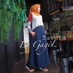 Baju Original Taveta dress Babyterry Gamis Panjang Hijab Casual Pakaian Wanita Muslim Modern Maxy Terbaru Tahun 2018