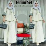 Spesifikasi Baju Original Tenun Set Wolfis Stelan Muslimah Atasan Dan Celana Wanita Pakaian Casual Simple Trendy Warna Navy Paling Bagus