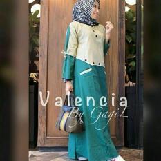 Baju Original Valencia Dress Balotelly Gamis Panjang Hijab Casual Pakaian Wanita Terbaru Tahun 2018