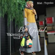 Baju Original Valencia Vol 2 Dress Balotelly Gamis Panjang Hijab Casual Pakaian Wanita Terbaru Tahun 2018