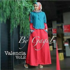 Baju Original Valencia Vol 2 Dress Balotely Gamis Panjang Hijab Casual Pakaian Wanita Muslim Modern Maxy Terbaru Tahun 2018