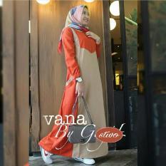 Baju Original Vana Dress Balotelly Gamis Panjang Hijab Casual Pakaian Wanita Terbaru Tahun 2018