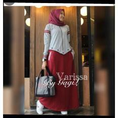 Baju Original Varisa Dress Babyterry Gamis Panjang Hijab Casual Pakaian Wanita Muslim Modern Maxy Terbaru Tahun 2018