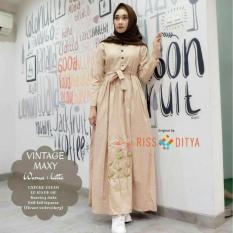 Baju Original Vintage Dress Balotelly Gamis Panjang Hijab Casual Pakaian Wanita Hijab Modern
