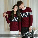 Jual Baju Original W Merah Sweater Couple Combad Jaket Pasangan Set Jacket Murah Trendy Keren Baru