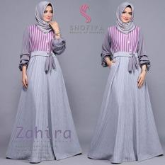 Baju Original Zahira dress Balotely Gamis Panjang Hijab Casual Pakaian Wanita Muslim Modern Maxy Terbaru Tahun 2018