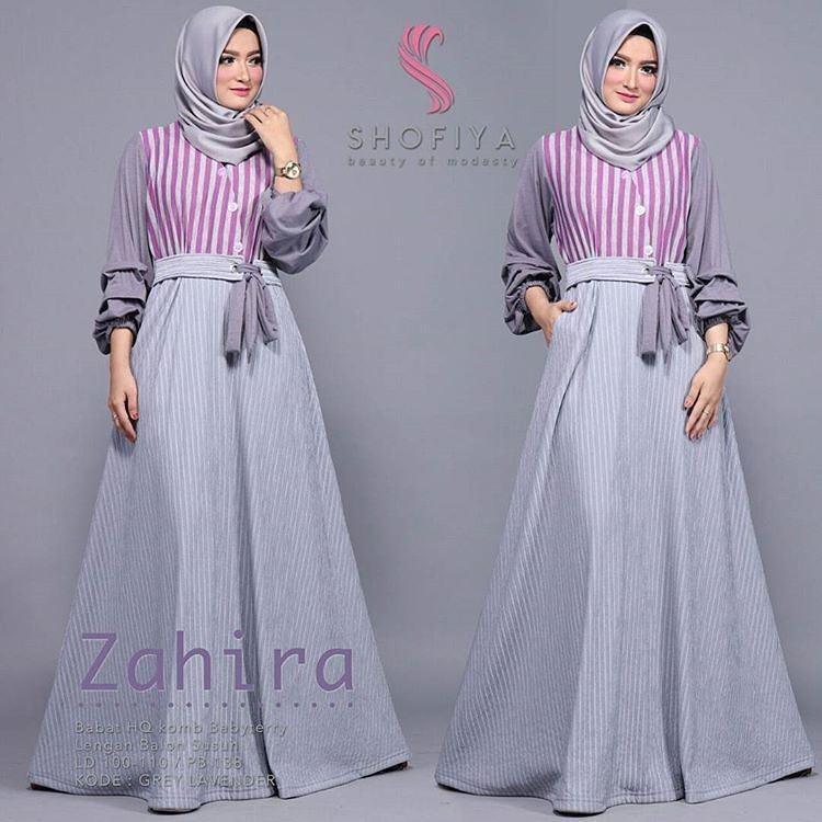 Baju Original Zahira dress Balotely Gamis Panjang Hijab Casual Pakaian  Wanita Muslim Modern Maxy Terbaru Tahun ee9efac8ce