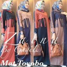 Baju Original Zaina Dress Balotelly Gamis Panjang Hijab Casual Pakaian Wanita Terbaru Tahun 2018