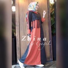 Baju Original Zaina Dress Balotely Gamis Panjang Hijab Casual Pakaian Wanita Muslim Modern Maxy Terbaru Tahun 2018