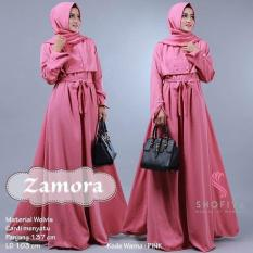 Baju Original Zamora dress Balotely Gamis Panjang Hijab Casual Pakaian Wanita Muslim Modern Maxy Terbaru Tahun 2018