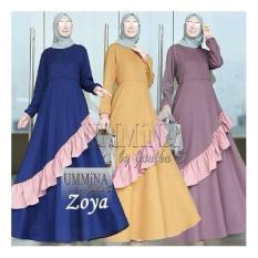 Baju Original Zoya Dress Balloteli Gamis Panjang Hijab Casual Pakaian Wanita Hijab Modern