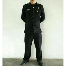Baju Pakaian Safari Satpam / Supir/ Body Guard / Securty Panjang - A779ab