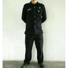 Baju Pakaian Safari Satpam / Supir/ Body Guard / Securty Panjang - Fndmxw
