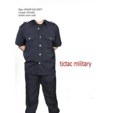 Baju / Pakaian Seragam Safari Lengan Pendek Satpam/ Supir/ Keamanan / Securty