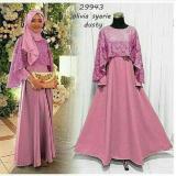 Harga Baju Pesta Hijab Murah Olivia Maxy Pink Merk Multi