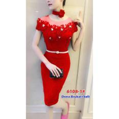 6108-1# baju pesta import / baju seksi / baju pesta selutut / baju sabrina / dress fashion import