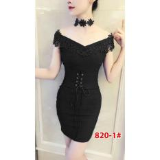 820-1# baju pesta import / baju seksi / baju pesta  / baju sabrina / dress fashion import