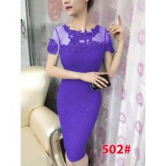 502# baju pesta import  / gaun pesta import / baju congsam / cheongsam brokat / dress fashion import