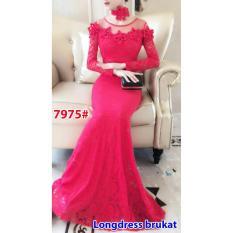 7975# baju pesta import  / gaun pesta import / baju pesta brokat / longdress fashion import