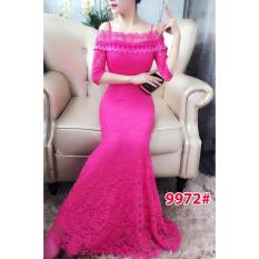 9972# baju pesta import  / gaun pesta import / baju pesta brokat / longdress fashion / longdress sabrina