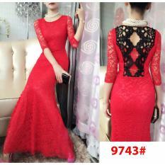 9743# baju pesta import  / gaun pesta import / baju pesta brokat / longdress fashion / gaunpanjang import