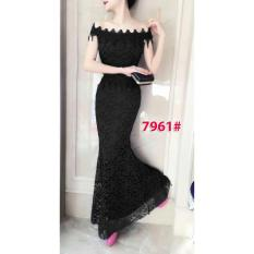 7961# baju pesta import  / gaun pesta import / baju pesta brokat / longdress fashion import / gaunpanjang