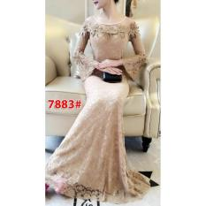 7883# baju pesta import  / gaun pesta import / baju pesta brokat / longdress fashion import