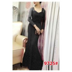 9725# baju pesta import  / gaun pesta import / baju pesta brokat / longdress fashion import / gaunpanjang