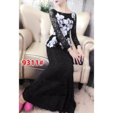 9311# baju pesta import  / gaun pesta import / baju pesta brokat / longdress fashion / longdress scuba / gaunpanjang sabrina