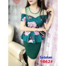 9862# baju pesta import  / gaun pesta import / setelan sabrina /pisah fashion