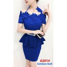 6201# baju pesta import  / gaun pesta import / setelan sabrina / stelan fashion import / atas bawah rok