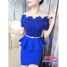6198# baju pesta import  / setelan wanita / setelan pesta / stelan fashion import / atasbawah rok sabrina