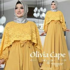 Baju Pesta / Party Dress / Gamis Cape Brukat / Kondangan OOTD / Maxi Olivia