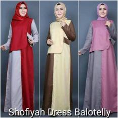 Baju Pink / Gamis Hijab Gaya Baru / Pakaian Murah : Shofiyah Dress