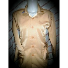 Baju Pramuka perempuan SD-SMA Sz 3-4-5-6  tangan panjang model saku bawah plus tali pinggang