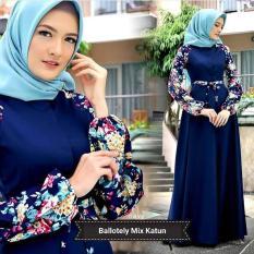 Baju Raffa Dress Baloteli Mix Katun Jepang Maxi Modern Cewek Gamis Panjang Hijab Casual Pakaian Wanita Murah