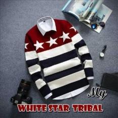 BAJU RAJUT PRIA WHITE STAR TRIBAL