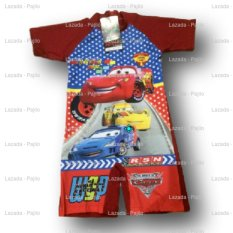Baju Renang Anak Laki Laki Diving Boy TK SD Bayi The Cars Mobil McQueen Merah