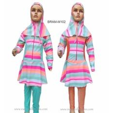 Baju Renang Anak Muslim Motif Lapis Pelangi Size SD