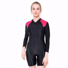 Harga Baju Renang Diving Wanita Dv Dw Tp 016 Hitam Pink Edora Ori