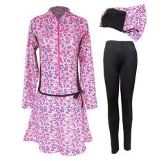Baju Renang Muslim Dewasa Harga Murah BRM-159-Warna Pink Loreng