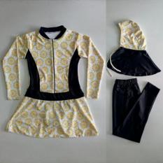 Baju Renang Muslimah Anak SD Bunga Kuning