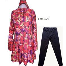 Baju Renang Muslimah Jumbo - BRJ01 - 4L - 5L Motif Bunga
